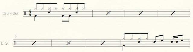 ドラム譜の例