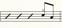 8分音符のフィルイン